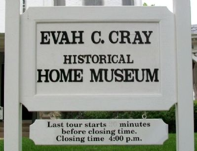 Evah C. Cray (W. W. Hetherington) House Museum Sign image. Click for full size.