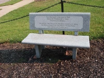 Left - - Memorial Bench image. Click for full size.