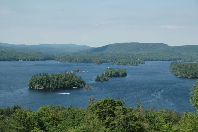 The Adirondacks - Blue Mountain Lake in Hamilton County image. Click for full size.