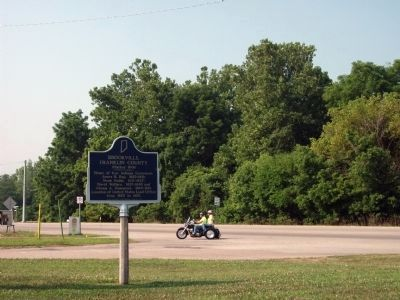 Looking South/West - - Brookville, Franklin County Marker image. Click for full size.