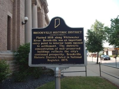 Brookville Historic District Marker image. Click for full size.