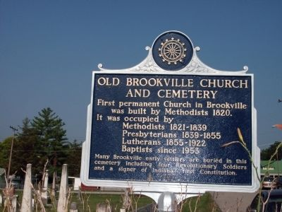 Old Brookville Church and Cemetery Marker image. Click for full size.