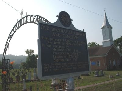 Obverse Side - - Old Brookville Church and Cemetery Marker image. Click for full size.