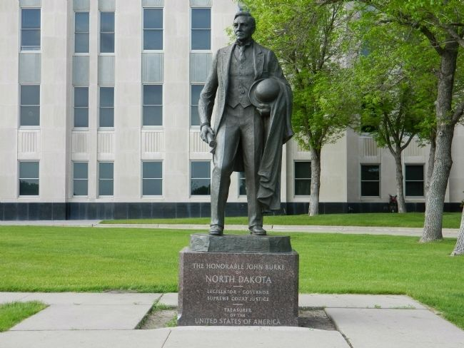 The Honorable John Burke Statue image. Click for full size.