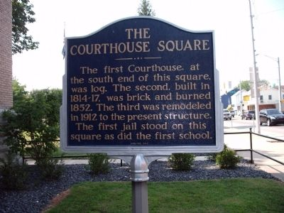 The Courthouse Square Marker image. Click for full size.