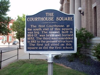Obverse Side - - The Courthouse Square Marker image. Click for full size.