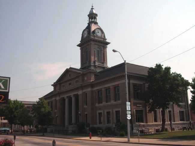 South/West Corner - - Franklin County Courthouse - Brookville, Indiana image. Click for full size.