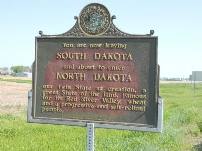 You are now leaving South Dakota Marker image. Click for full size.
