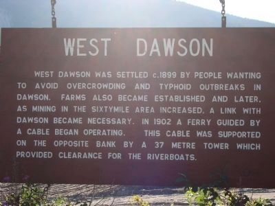 West Dawson Marker image. Click for full size.