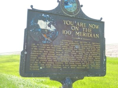 You are now on the 100 Meridian Marker image. Click for full size.