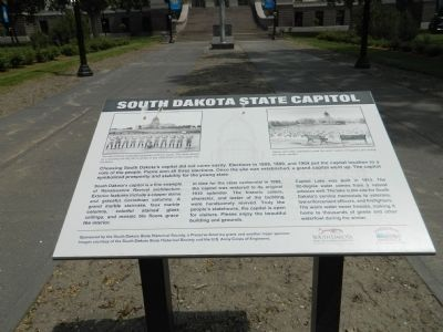South Dakota State Capitol Marker image. Click for full size.