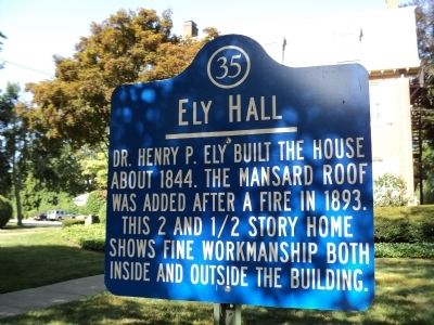 Ely Hall Marker image. Click for full size.
