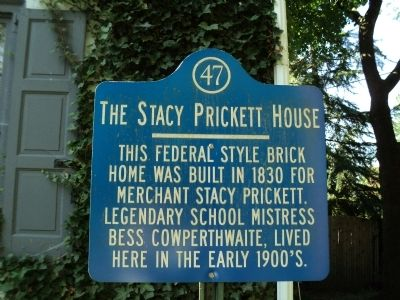 The Stacy Prickett House Marker image. Click for full size.