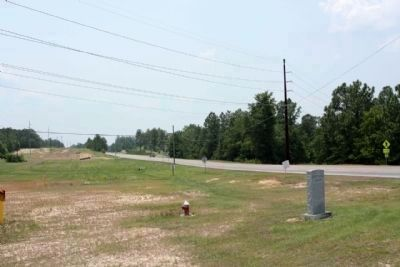Robert M. Bell Parkway Marker, looking south along the Parkway (State Highway 19, 118) image. Click for full size.