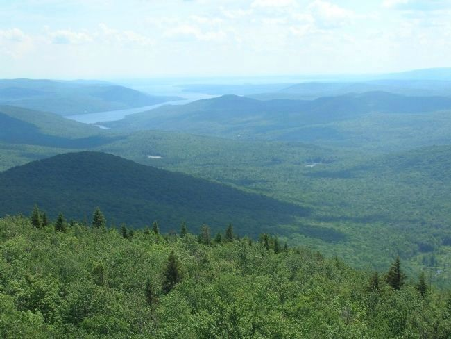 The Adirondacks - View From Hadley Mountain in Saratoga County image. Click for full size.