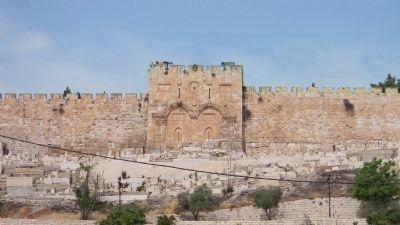 The Golden Gate, a landmark on the Eastern Wall of the Temple Mount image. Click for full size.