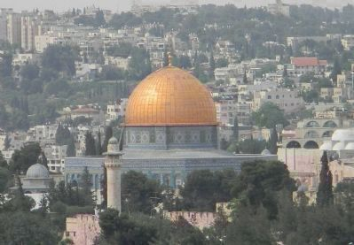 "The Temple Mount: The Dome of the Rock - encompassing the Abrahamic ""Foundation Stone"" image. Click for full size."
