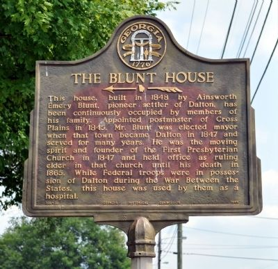 The Blunt House Marker image. Click for full size.