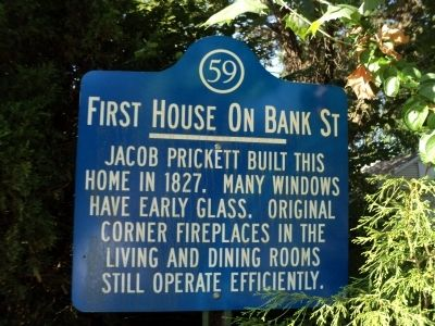 First House on Bank Street Marker image. Click for full size.