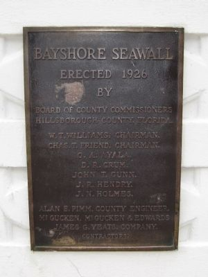 Bayshore Seawall Plaque image. Click for full size.