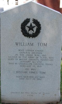 William Tom Marker image. Click for full size.