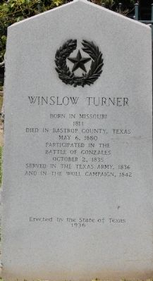 Winslow Turner Marker image. Click for full size.