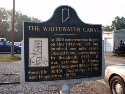 The Whitewater Canal Marker image. Click for full size.