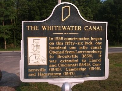 Obverse Side - - The Whitewater Canal Marker image. Click for full size.
