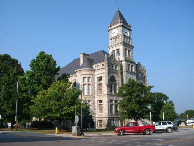 North/East Corner - - Union County Courthouse - Liberty, Indiana image. Click for full size.