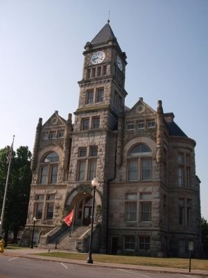 North Side - - Union County Courthouse - Liberty, Indiana image. Click for full size.