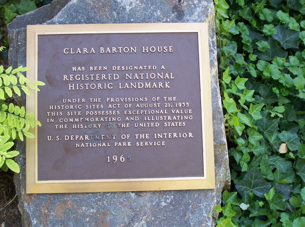 The Clara Barton House Marker