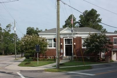 The Latta Library and Marker image. Click for full size.