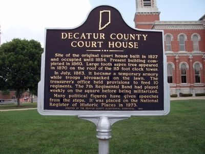 Decatur County Court House Marker image. Click for full size.
