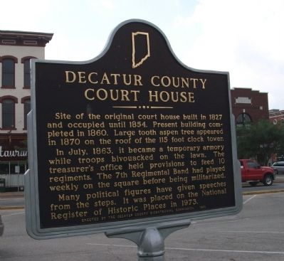 Obverse Side - - Decatur County Court House Marker image. Click for full size.