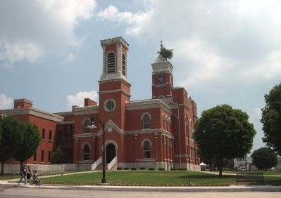 South/West Corner - - Decatur County Courthouse - Greensburg, Indiana image. Click for full size.