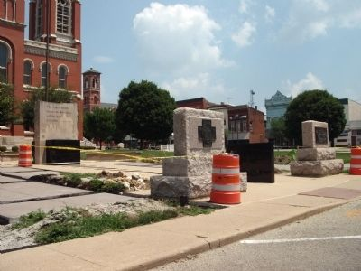 Construction of New - - Decatur County War Memorial / Honor Roll image. Click for full size.