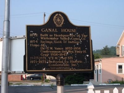 Canal House Marker image. Click for full size.