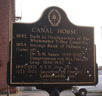 Obverse Side - - Canal House Marker image. Click for full size.