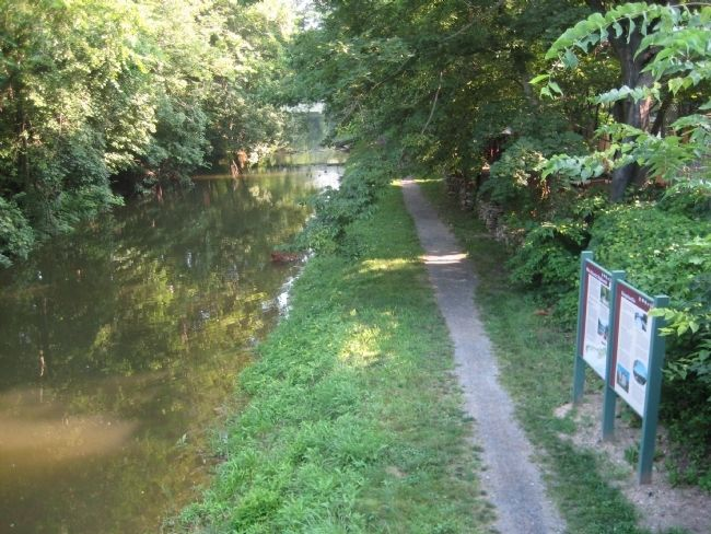 Mid-Atlantic Highlands Marker along Delaware Canal Towpath image. Click for full size.