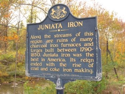 Juniata Iron Marker image. Click for full size.