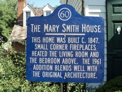 The Mary Smith House Marker image. Click for full size.