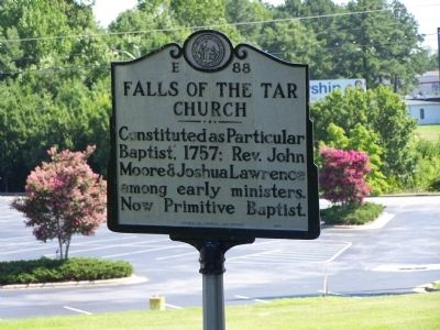 Falls of the Tar Church Marker image. Click for full size.
