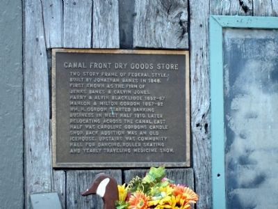 Canal Front Dry Goods Store Marker image. Click for full size.