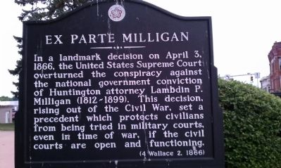 Ex Parte Milligan Marker image. Click for full size.