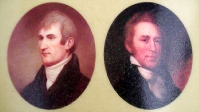 Portraits The Lewis and Clark Expedition Marker image. Click for full size.