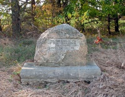 Site Of The First School House In Elkhart County Marker image. Click for full size.