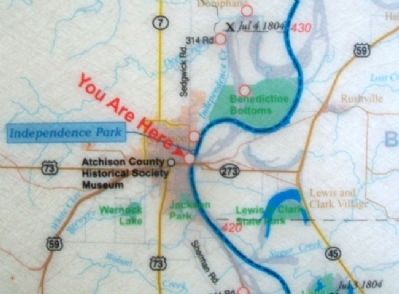 "Map on ""walked on Shore above this Creek"" Marker image. Click for full size."