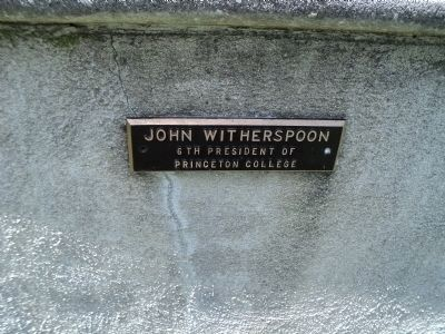 Second John Witherspoon Marker image. Click for full size.