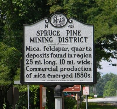 Spruce Pine Mining District Marker image. Click for full size.