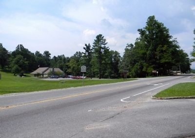 Wide view of the Spruce Pine Mining District Marker image. Click for full size.